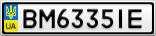 Номерной знак - BM6335IE
