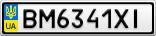 Номерной знак - BM6341XI