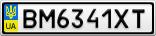Номерной знак - BM6341XT