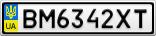 Номерной знак - BM6342XT