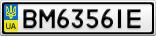 Номерной знак - BM6356IE