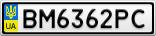 Номерной знак - BM6362PC
