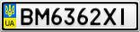Номерной знак - BM6362XI