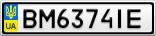 Номерной знак - BM6374IE