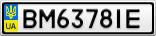 Номерной знак - BM6378IE