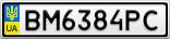 Номерной знак - BM6384PC