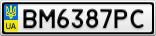 Номерной знак - BM6387PC