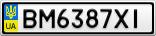 Номерной знак - BM6387XI
