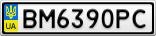 Номерной знак - BM6390PC