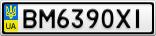 Номерной знак - BM6390XI