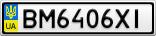 Номерной знак - BM6406XI