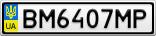 Номерной знак - BM6407MP