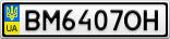 Номерной знак - BM6407OH