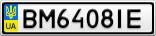 Номерной знак - BM6408IE