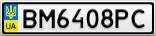 Номерной знак - BM6408PC