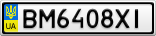 Номерной знак - BM6408XI
