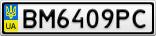 Номерной знак - BM6409PC