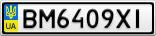 Номерной знак - BM6409XI
