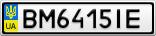 Номерной знак - BM6415IE