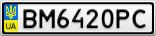 Номерной знак - BM6420PC