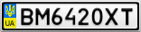 Номерной знак - BM6420XT
