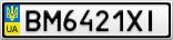 Номерной знак - BM6421XI