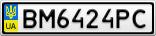 Номерной знак - BM6424PC
