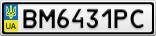 Номерной знак - BM6431PC