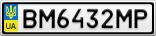 Номерной знак - BM6432MP