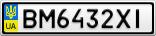 Номерной знак - BM6432XI