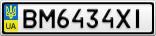 Номерной знак - BM6434XI