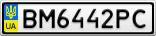 Номерной знак - BM6442PC