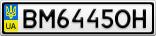 Номерной знак - BM6445OH
