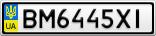 Номерной знак - BM6445XI