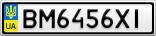 Номерной знак - BM6456XI