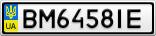 Номерной знак - BM6458IE