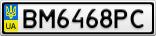 Номерной знак - BM6468PC