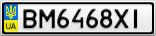 Номерной знак - BM6468XI