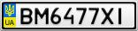 Номерной знак - BM6477XI