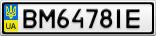 Номерной знак - BM6478IE