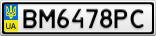Номерной знак - BM6478PC