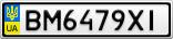 Номерной знак - BM6479XI