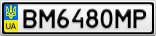 Номерной знак - BM6480MP