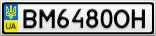 Номерной знак - BM6480OH