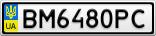 Номерной знак - BM6480PC