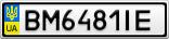 Номерной знак - BM6481IE