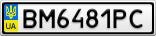 Номерной знак - BM6481PC