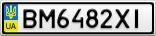 Номерной знак - BM6482XI