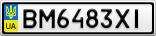 Номерной знак - BM6483XI