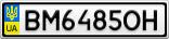 Номерной знак - BM6485OH